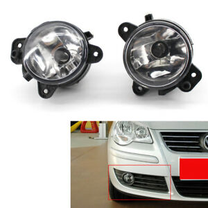 Front Fog Lights Lamps Set Pair VW POLO 9N2 05-09 T5 03-09 CRAFTER Crystal Smoke