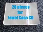 20 pieces Resealable Outer Plastic Sleeves for CD Jewel Cases
