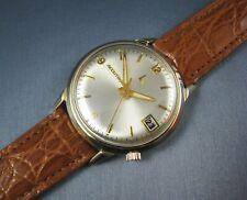 Vintage Bulova Accutron Tuning Fork 218 14k Gold GF  Mens Date Watch 1974