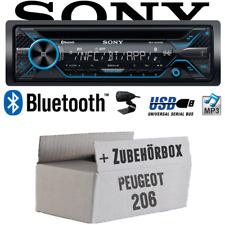 Sony Radio für Peugeot 206 Bluetooth CD/MP3/USB Autoradio - Einbauset Auto Radio