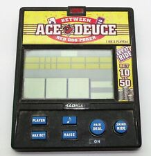 Between Ace Deuce Red Dog Poker Electronic Hand Held Game Radica Tested Working