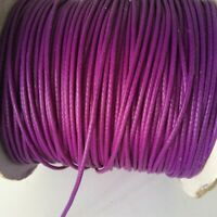 Waxed Polyester Cord Thread 1mm Pink bead stringing bracelet necklace making