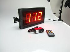 3'' 3Digits LED Digital Counter Count Down/Up Timer In Seconds With Remote