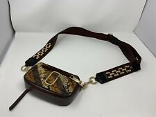 MARC JACOBS AUTH  Snapshot Small Camera Bag Brown And Gold With dust bag!
