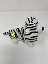 Hush Puppies Zebra Stripe Dog Beanbag Plush Applause Beanie Baby Basset Hound