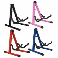 Guitar Stand Folding Metal Music Electric Acoustic Free Standing Frame Stand