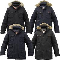 Boys Parka Jacket Brave Soul Coat Kids Padded Hooded Fur Lined Hooded Winter New