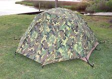 USMC 2 Man Tactical Combat Tent, Rain Fly, Repair Kit, Eureka Camouflage Camping