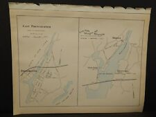 Conneticut, Fairfield County Map City of Stamford Dbl Side Dbl Pg 1893 R4#95