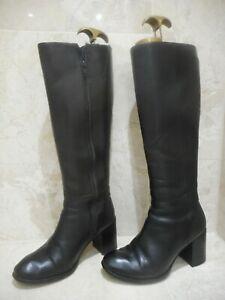 Jones Leather Boots Black Size 5 38