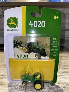 1:87th Scale John Deere 4020 Narrow Front Tractor Rear Duals Die-Cast Ho Scale