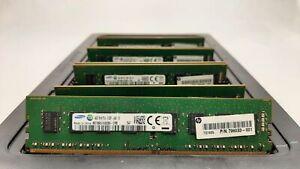 LOT 8 HP-SAMSUNG 798033-001 4GB DDR4 PC4-2133U 17000MB/s NON ECC DIMM MEMORY RAM