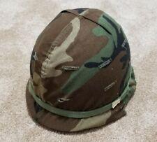 Vintage Military Army Helmet w/ Chin Strap & Type 1 Liner Ground Troops, Steel