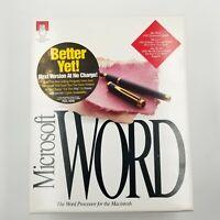 Microsoft Word For Mac 5.0  Big Box Word Processing Program Vintage Rare
