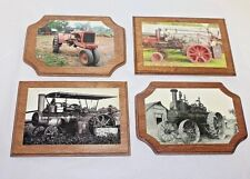Antique /Vintage Tractors/Farm Machinery /Real Photo Mounted on Plaque/Set of 4