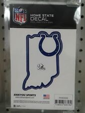 INDIANAPOLIS COLTS HOME STATE VINYL SMALL DECAL