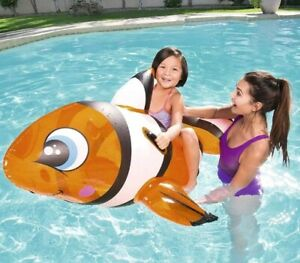 Bestway 41088B Inflatable Pool Float, Clown Fish Ride on Lilo kids fun Lounger