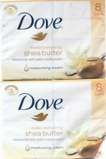 2 Packages Dove Purely Pampering Shea Butter Warm Vanilla 8 Count Beauty Bar