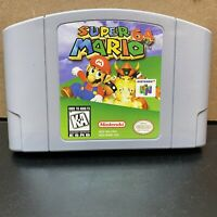 Super Mario 64 (Nintendo 64, 1996)Cleaned / Tested / Authentic-N64-Cart & Case