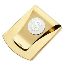 Storus Smart Money Clip with $ Sign Medallion - Polished Gold Finish/Silver Coin