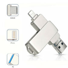 Silver 8GB TO 512GB 3.0 USB Flash Drive Disk OTG Pendrive For IPhone iOS PC lot