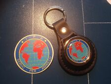 IPA 'International Police Association' LEATHER  KEY RING  &  FREE PHONE STICKER