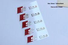 E336 5 stück S Line  Emblem Badge auto aufkleber 3D aus Nickel car Sticker Neu