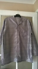 LOVELY MEN'S INDIAN NEHRU STYLE GREY/SILVER SHIRT - EXCELLENT CONDITION