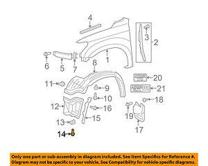 TOYOTA OEM-Fender Liner Splash Shield Screw 9008015091