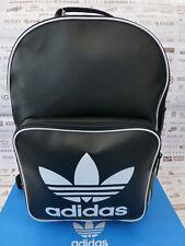 ADIDAS Backpack CLASSIC Rucksack Black Vintage Pu Shoulder Laptop Bags BNWT