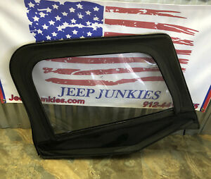 Jeep Wrangler YJ 87-95 Passenger Black Soft Top Half Door Upper & Frame