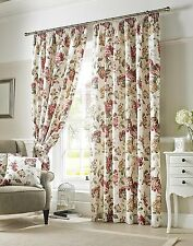 Ashley Wilde Carnaby Chintz Made Eyelet Ring Fully Lined Curtains, 66 x 54-Inch