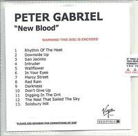 PETER GABRIEL New Blood UK very low numbered/watermarked promo test CD