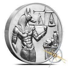 2 oz Anubis Ultra High Relief Silver Round .999 Egyptian Gods Heidi Wastweet