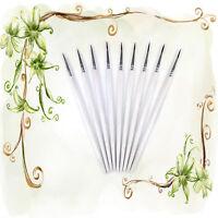 10Pcs White Fine Hand-painted Thin Hook Line Pen Drawing Art Pens Paint Brush WK
