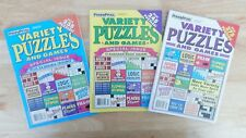 Lot of 3 PENNY PRESS Variety Puzzle Books 2014 NEW #43