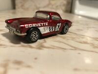 Vintage Matchbox 1962 Corvette Candy Apple Red 1982 Diecast 1:58