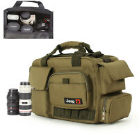 Large Shoulder Bag Messenger Camera Bag Padded Travel Cover Case For DSLR SLR