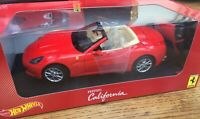 MATTEL HOT WHEELS R3255 FERRARI CALIFORNIA diecast model car red 2008 1:18th