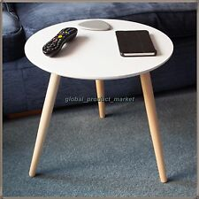 Small End Table White Oak Legs Vintage Retro Side Coffee Stand Living Room Unit