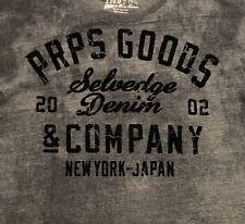PRPS GOODS & Co Heather Blueish Grey Gray Mens L  Large T Shirt Orig $125+Cotton