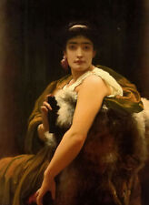 Dream-art Oil painting Lord Frederick Leighton - twixt hope and fear girl seated