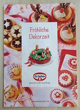 Rezeptheft Dr. Oetker Rezeptesammlung Nr. 135 Fröhliche Dekorzeit Weihnachten