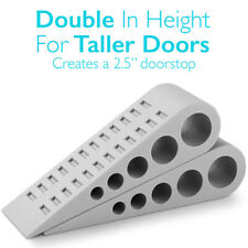 HEAVY DUTY EXTRA LARGE WIDE DOOR WEDGE FLOOR HOME PROTECTOR SAFE RUBBER STOPPERS