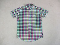 Brooks Brothers Button Up Shirt Adult Small Pink Green Plaid Casual Mens A15
