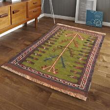 262 Vintage Afghan Rug Handmade Wool Kilim Rug Sumak Turkish Bedroom Rug 3x2