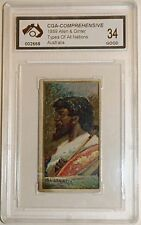 Rare 1889 Allen And Ginter Australia Card Graded Good