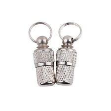 2x Anti-Lost Pet Dog Cat ID Stainless Steel Tag Name Address Barrel Tube NEW V