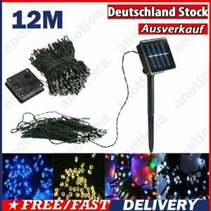 100 LED Solar Lichterkette Kette Weihnachtsbaumkette Party Garten Außen Lampe