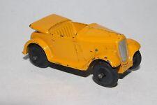 1940's Dinky #35d Austin 7 Convertible, Original, Yellow, Lot #2